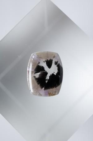 Hematite in Ametrine  - 001