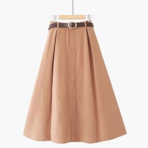 【ボトムス】 スカート 若見え 無地 多色展開43400385