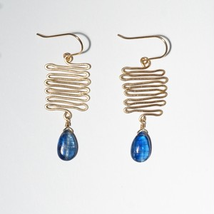 Que será será pierced earring - Kyanite