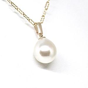 あこや本真珠のしずくのネックレスAB