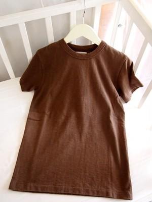 【おとなサイズ】最強のママTシャツ!旧式吊編み織りTシャツ ブラウン