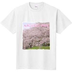 みゅー☆スターロゴTシャツ「桜」(ホワイト) KP-0031