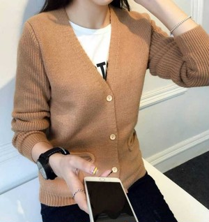 【outer】Long sleeve knit cardigan sweater
