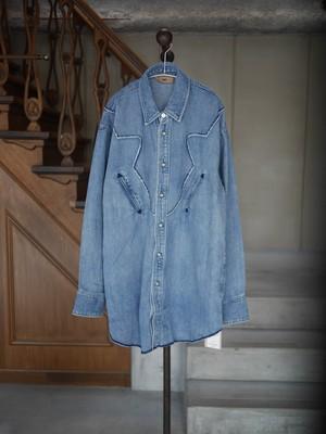 NOWOS /  denim shirt (Indigo)
