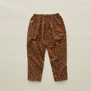 《eLfinFolk 2020SS》leopard pants / brown / 110-130cm