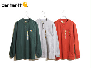 CARHARTT|HENLEY NECK LONG SLEEVE