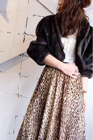 Vintage fake fur short jacket