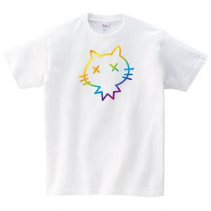 カラフル猫 Tシャツ