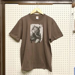 COUNTDOWN T☆B  「Amabie」(チャコール)Tシャツ(Lサイズ)②