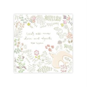 メッセージカード『鳥とお花のメッセージカード』~奈月~