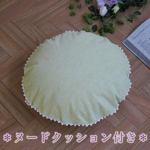 【カバー+ヌードクッション】 canvas chambray クッションセット pompon R
