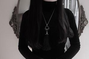 【Forgotten Waltz】Silver-Tassel necklace