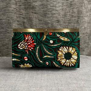 長財布(緑と花)