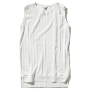 【FILL THE BILL】《WOMENS》PLEAT FRIES NO SLEEVE TEE - WHITE
