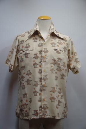 60's Jonathan Hill S/S トランプ柄 ボックスシャツ