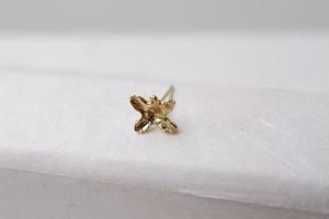 【片耳】金木犀の花ピアス(K18YG)*5枚花弁*
