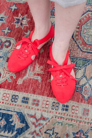 【F-TROUPE】Liberty × bathing shoes red (K106)