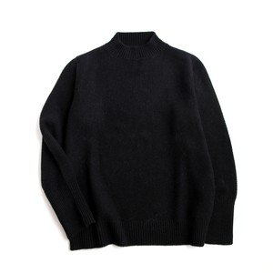 THE INOUE BROTHERS/Low Gauge/Mock Neck Sweater/Black