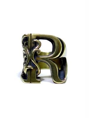 alphabet ring#R (Brass ・ 真鍮) -アルファベットモチーフ リングR-
