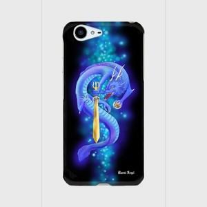 【AQUOS PHONE ZETA(SH-04H)】Blue Dragon of Wisdom 叡智の青龍 ツヤありハード型スマホケース