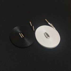 WAXED SHOELACE 2P (BLACK-WHITE/silver)