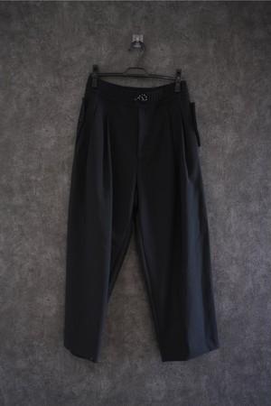 VOAAOV Vintage Wool Wide Tapered Pants  Black