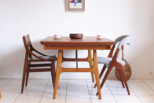 Danish Dining Table Teak&Oak w1440