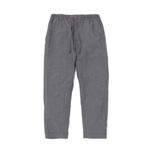 TWILL STRETCHED DARTED PANTS - GRAY
