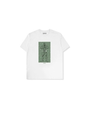 "XENO x BAKI Collaboration T-shirt ""JIN"" WhiteGreen"
