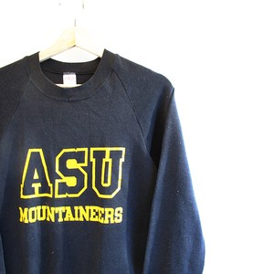 1980's JERZEES BY RUSSELL NCAA ASU MOUNTAINEERS BLACK SWEATSHIRT size S