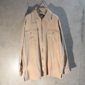 Corduroy Zip Up Shirt Jacket