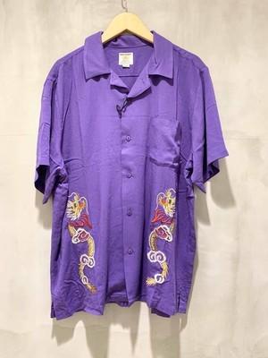 HOUSTON 刺繍スーベニアシャツ - PURPLE/DRAGON