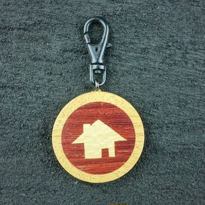 wooden inlaid charm IH-048-BGY