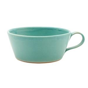 笠間焼 向山窯 スープカップ マグ 約500m トルコブルー 255671