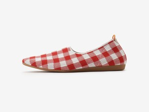 gingham check pattern / RED & WHITE