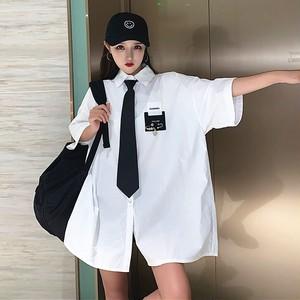 【トップス】ストリート不規則韓国系プリント半袖シャツ42900208