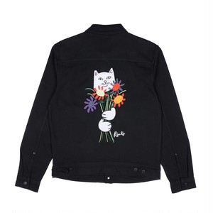 RIPNDIP - Nermcasso Flower Denim Jacket (Black)