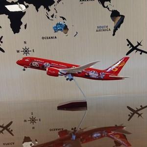 海南航空 カンフーパンダ 飛行機 模型 LED点灯 USB充電 ライト点灯