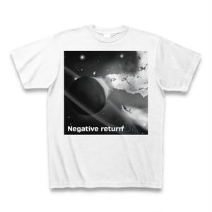 【ジャケT】「Negative return」CDジャケットTシャツ(monochrome)