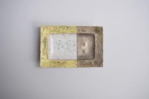片瀬和宏 SLL四角皿(銀)②