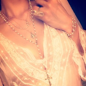Antique Pink Pearl necklace 04