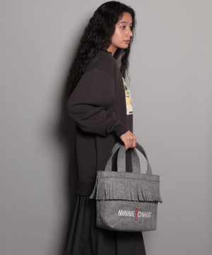 14845600【MINNETONKA/ミネトンカ】MT Fringe tote bag melton