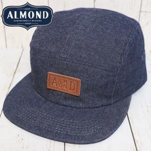 ALMOND DENIM CAMP HAT アーモンド ストラップバックキャップ