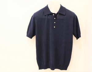 Blu Bre Knit Polo Shirt Abyss