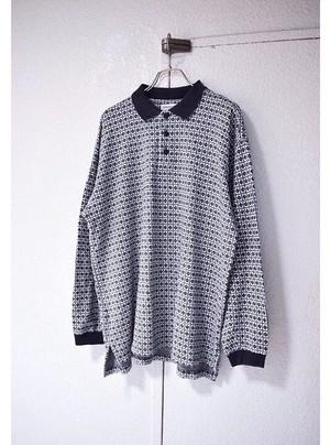 〝claiborne〟L/S cotton ポロシャツ