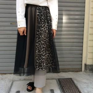 GALENA/レオパードチュールスカート