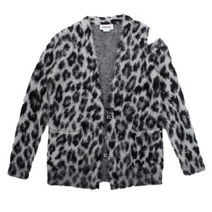MONSE Leopard Knit Cardigan