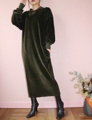 80's Sonia Rykiel velour long dress