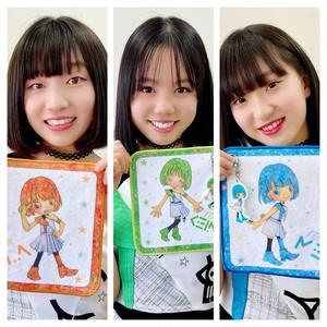 ハンカチ☆オレンジ 黄緑 水色:ユメノムコウver.(3点セット)