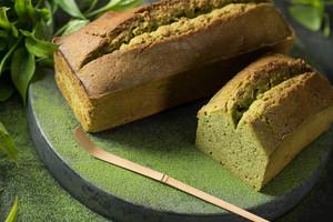 国産茶葉の抹茶が濃厚に香るパウンドケーキ